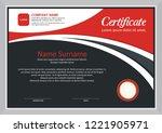 modern certificate template... | Shutterstock .eps vector #1221905971