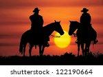 Cowboys  On Horseback ...