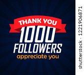 thank you followers... | Shutterstock .eps vector #1221906871