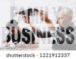 senior repairman examines... | Shutterstock . vector #1221912337