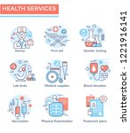 medical and health services...   Shutterstock .eps vector #1221916141