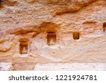 petra  jordan. tombs and... | Shutterstock . vector #1221924781