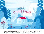 vector illustration in trendy... | Shutterstock .eps vector #1221925114