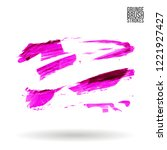 purple brush stroke and texture.... | Shutterstock .eps vector #1221927427
