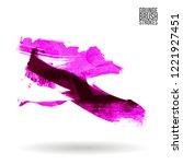 purple brush stroke and texture.... | Shutterstock .eps vector #1221927451