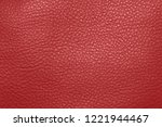 texture of red genuine leather. | Shutterstock . vector #1221944467