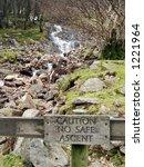 stream running down a mountain... | Shutterstock . vector #1221964