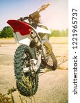 motocross bike enduro in the... | Shutterstock . vector #1221965737