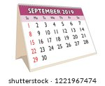 2019 september month in a desk... | Shutterstock .eps vector #1221967474