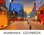 andorra la vella commercial... | Shutterstock . vector #1221968224