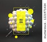 sphere. 3d vector template.... | Shutterstock .eps vector #1221971434