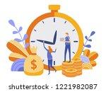 concept save time  money saving....   Shutterstock .eps vector #1221982087