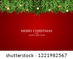 abstract holiday new year and... | Shutterstock .eps vector #1221982567