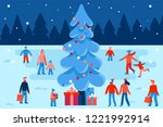 vector illustration in flat... | Shutterstock .eps vector #1221992914