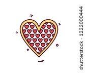 hearts icon design vector   Shutterstock .eps vector #1222000444