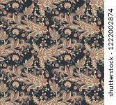 paisley seamless pattern with... | Shutterstock .eps vector #1222002874
