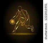 outline basketball player... | Shutterstock .eps vector #1222013551