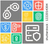 simple set of  10 outline icons ... | Shutterstock .eps vector #1222014304