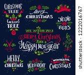 christmas vintage decorative... | Shutterstock .eps vector #1222016767