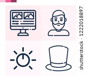 contains such icons as top hat  ... | Shutterstock .eps vector #1222018897