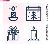 contains such icons as candle ... | Shutterstock .eps vector #1222018957