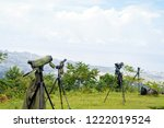 green spotting scope or...   Shutterstock . vector #1222019524