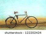 Vintage Bicycle Colored Retro