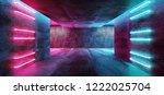 modern futuristic sci fi... | Shutterstock . vector #1222025704