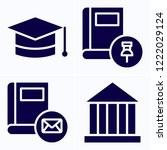 simple set of 4 icons related...   Shutterstock .eps vector #1222029124