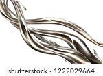 liquid metal jet realistic 3d... | Shutterstock .eps vector #1222029664