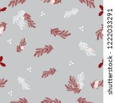 merry christmas pattern with... | Shutterstock .eps vector #1222033291