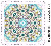 decorative colorful ornament on ... | Shutterstock .eps vector #1222037674