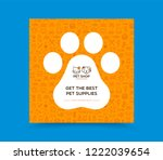 Stock vector template for pet shop veterinary clinic pet store zoo shelter card flyer poster for 1222039654