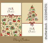 collection of christmas and new ... | Shutterstock .eps vector #1222040251