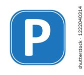 parking sign vector   Shutterstock .eps vector #1222040314
