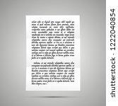 handwrite letter on latin with... | Shutterstock .eps vector #1222040854