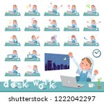a set of nun women on desk work.... | Shutterstock .eps vector #1222042297