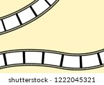 template for photos wavy... | Shutterstock .eps vector #1222045321