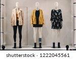 women clothing on mannequins in ...   Shutterstock . vector #1222045561