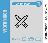 highlighter icon vector | Shutterstock .eps vector #1222047691