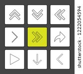 set of 9 icons  for web ... | Shutterstock .eps vector #1222054594