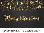golden ornated metallic... | Shutterstock .eps vector #1222062574