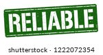 reliable sign or stamp on white ... | Shutterstock .eps vector #1222072354