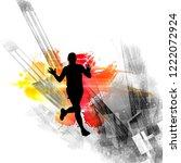 young fitness runner | Shutterstock . vector #1222072924