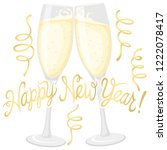 happy new year sign   Shutterstock .eps vector #1222078417