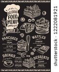 waffle and pancake menu... | Shutterstock .eps vector #1222081921