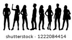 vector silhouettes men and... | Shutterstock .eps vector #1222084414