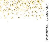golden confetti isolated.... | Shutterstock .eps vector #1222097314