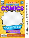 comic book cover. vintage... | Shutterstock .eps vector #1222098211