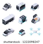driverless cars. future smart... | Shutterstock .eps vector #1222098247